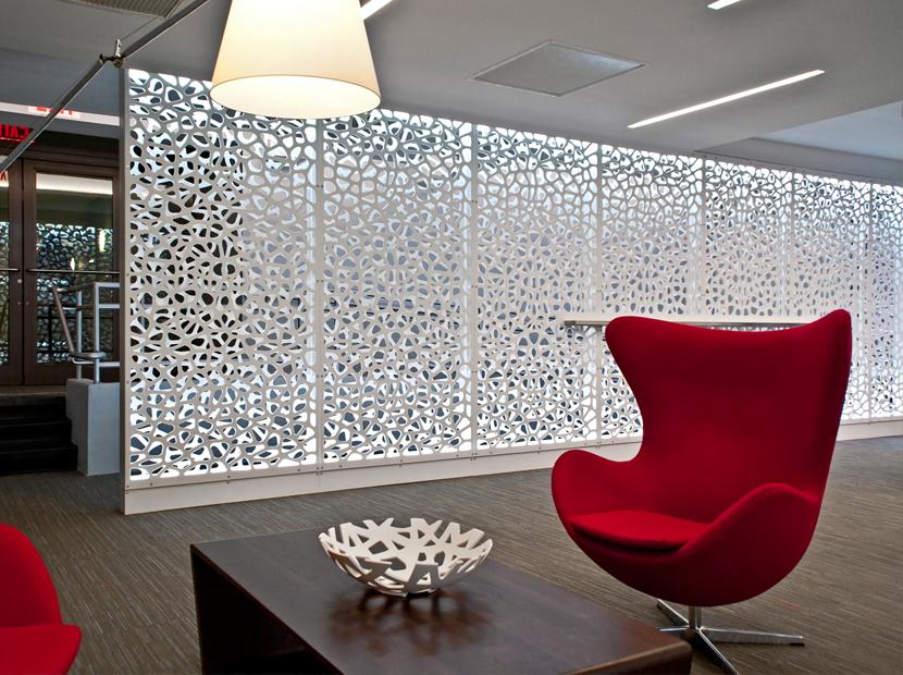 Razortooth Design Llc Architectural Screens Lobby Feature Walls Lobby Design